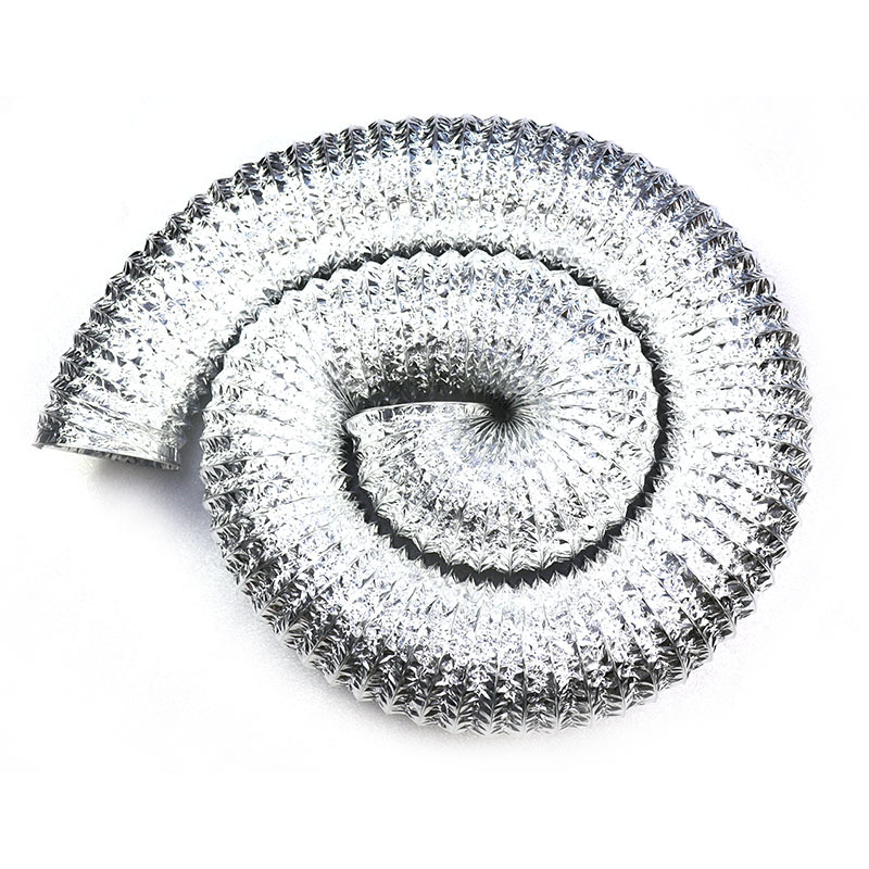 Single Layer Aluminum Flexible Duct Silver Color