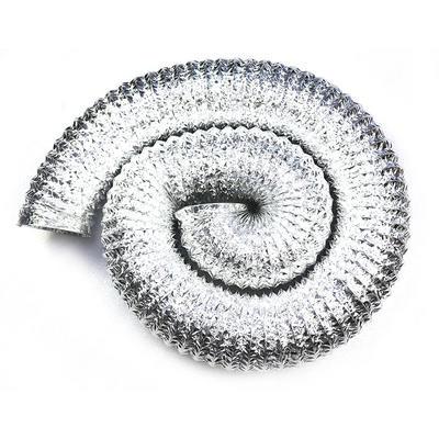 Single Layer Aluminum Flexible Duct Silver Color