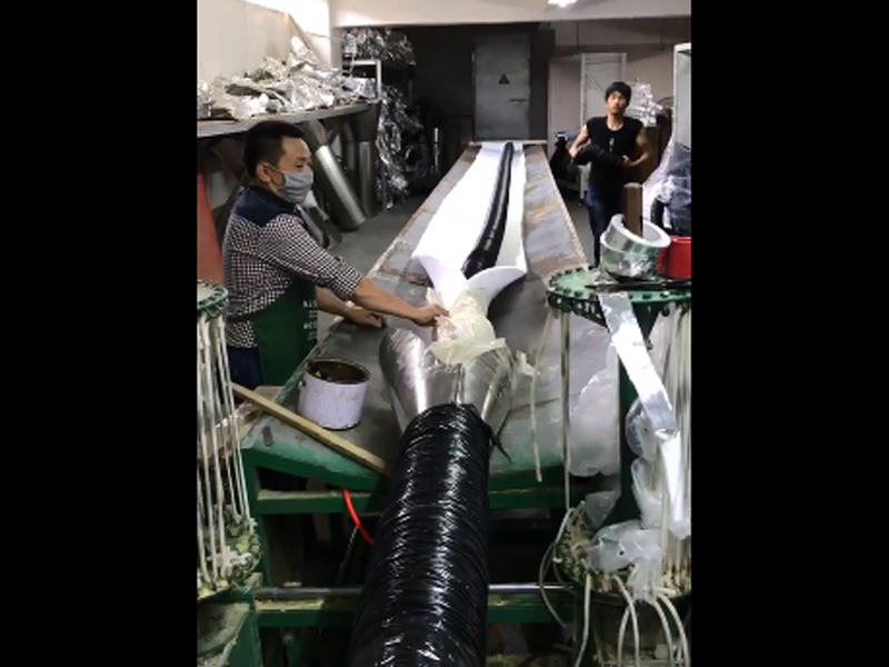 Thermal insulation pipe production workshop