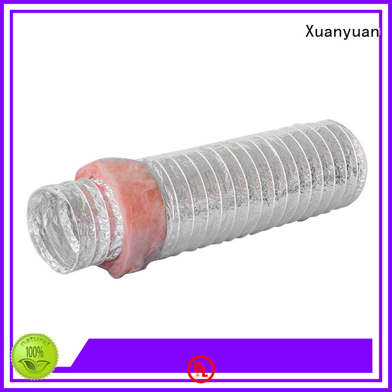 Xuanyuan insulated 4 inch insulated duct customized for general purpose exhaust