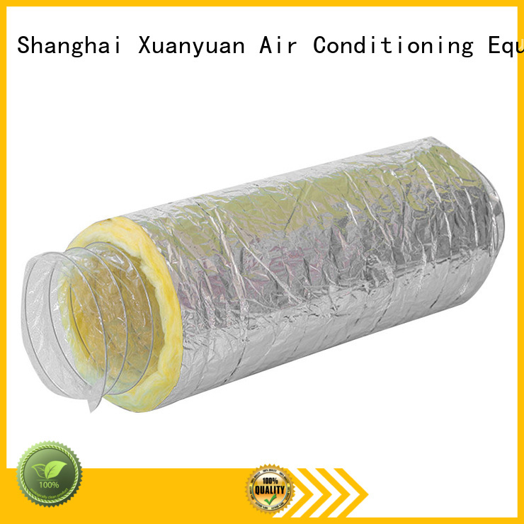 Xuanyuan fiberglass insulated flex duct directly sale for general purpose exhaust