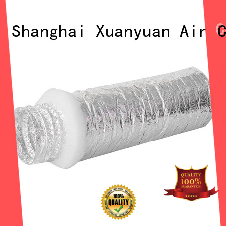 12-inch ac duct insulation polyester from China for fresh air system ventilation