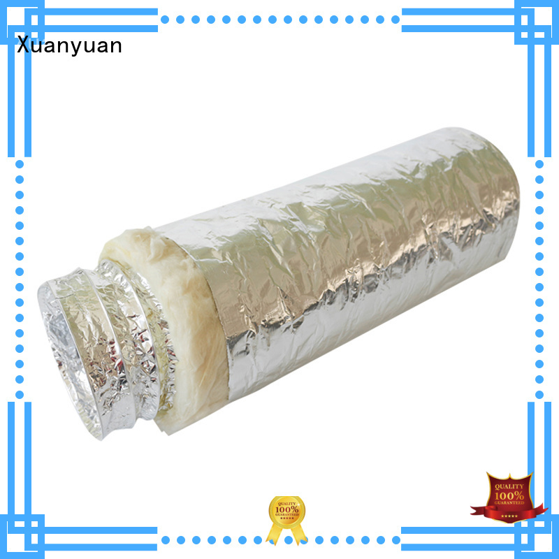 Xuanyuan 100mm insulated vent pipe from China for fresh air system ventilation