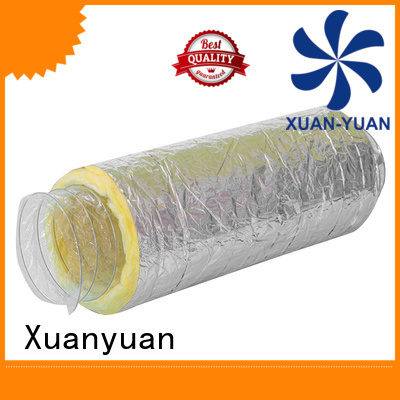 Xuanyuan fiberglass 4 inch insulated flexible duct series for general purpose exhaust
