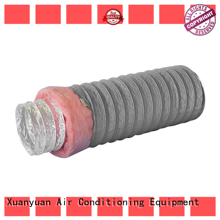 Xuanyuan customized length 3 inch insulated flexible duct customized for fresh air system ventilation