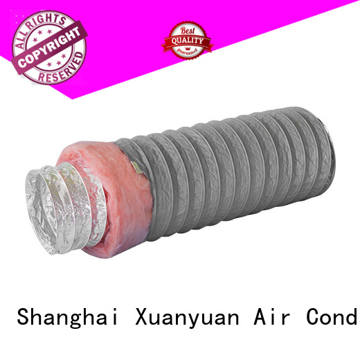 polyester 12 inch insulated flexible duct size series for ventilator