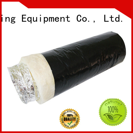 Xuanyuan fiberglass 4 inch insulated flexible duct manufacturer for fresh air system ventilation