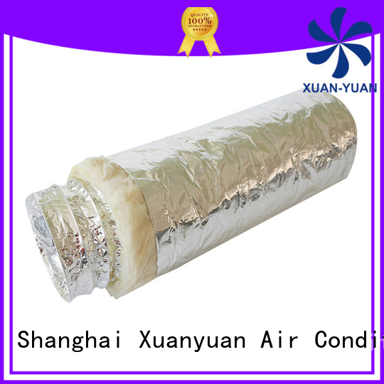 Xuanyuan round insulated exhaust duct manufacturer for range hood ventilation