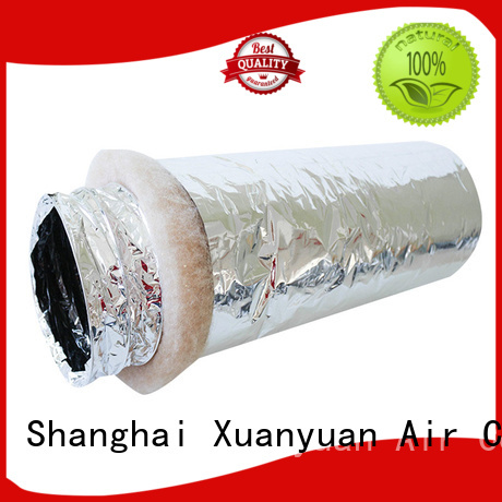 Xuanyuan 100mm 12 inch insulated flexible duct directly sale for bath heater ventilation