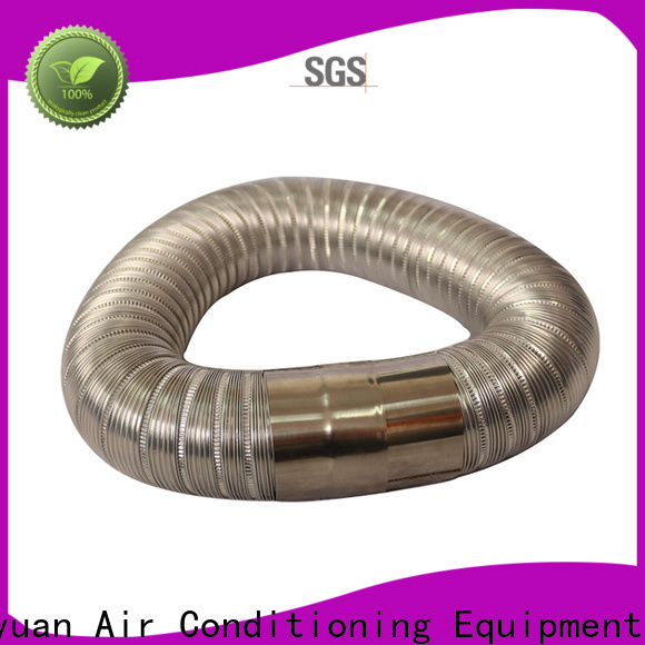 stainless steel 150mm semi rigid ducting doublelayer promotion for fresh air system ventilation