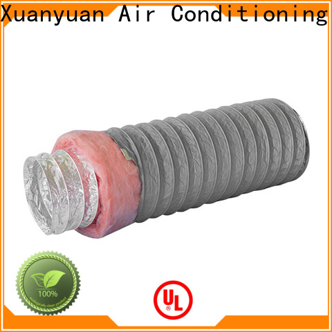 Xuanyuan 100mm 3 inch insulated flexible duct manufacturer for range hood ventilation