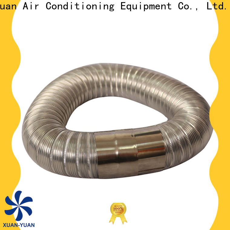 Xuanyuan stainless semi rigid dryer duct on sale for fresh air system ventilation